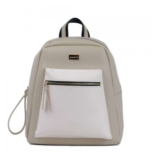 Τσάντα πλάτης μπέζ  70-242
