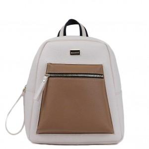 Τσάντα πλάτης ανοικτό μπέζ 70-242