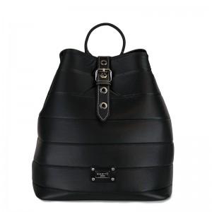 Γυναικεία τσάντα πλάτης 28-237 Μαύρη Σατέν
