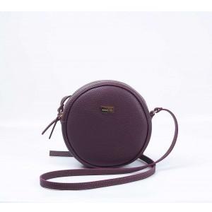 Τσάντα χιαστί στρογγυλή μπορντό 70-233