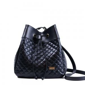 Τσάντα πουγκί καπιτονέ Μαύρη 24-236