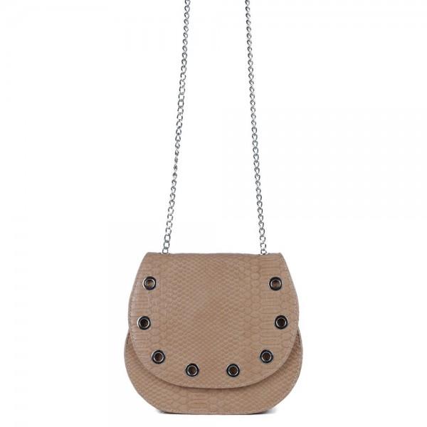 Τσάντα χιαστί με καπάκι Φίδι Ταμπά 50-217