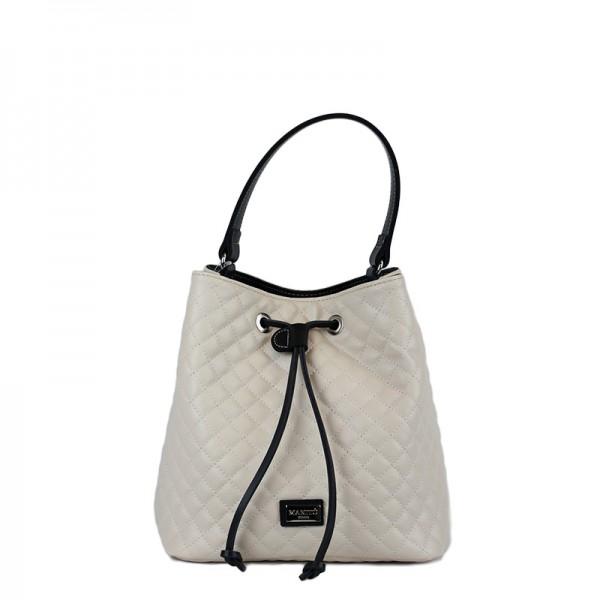 Τσάντα χιαστί πουγκί Μπέζ καπιτονέ 24-227