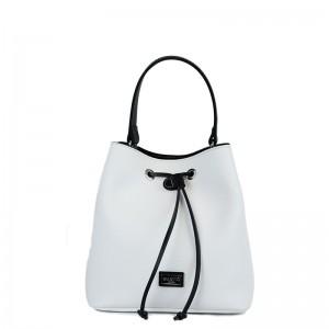 Τσάντα χιαστί πουγκί Λευκή Εco leather 70-227