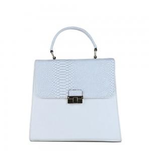 Τσάντα 60s Λευκή κροκό 12-143