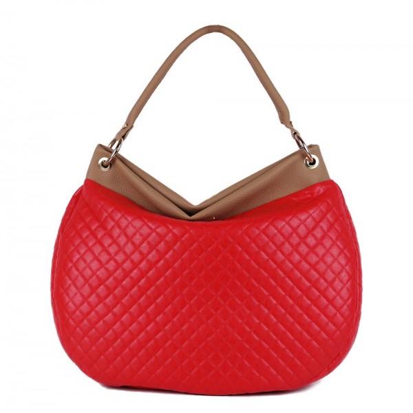 Τσάντα ώμου καπιτονέ κόκκινη 24-177