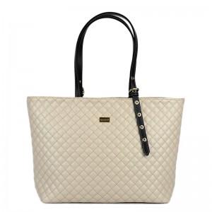 Γυναικεία τσάντα ώμου καπιτονέ Μπέζ 24-247