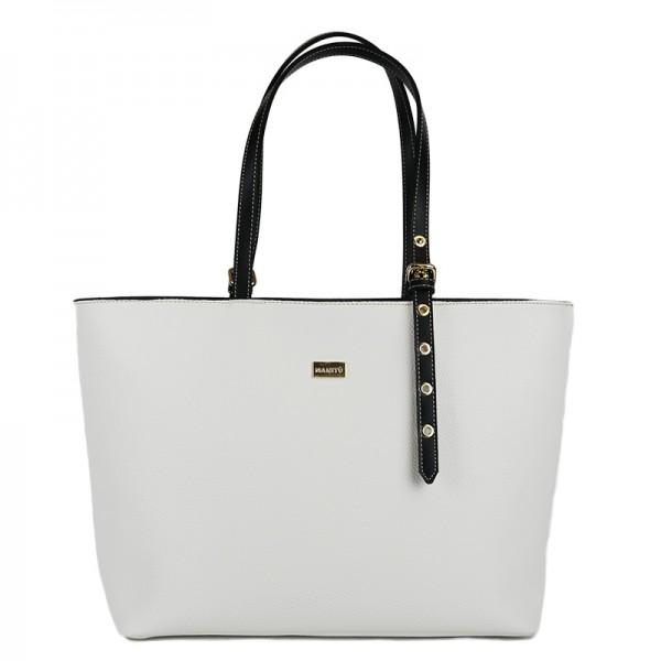 Γυναικεία τσάντα ώμου MANITU Λευκή 70-247