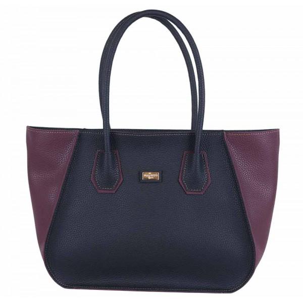Τσάντα ώμου μαύρη-μπορντό 70-225