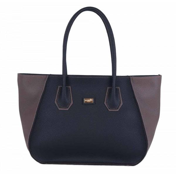Τσάντα ώμου μαύρη-πούρο 70-225